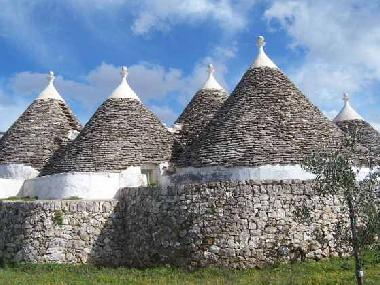 View of TRULLI. Typical Apulian building