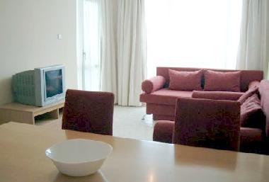 The comfortable lounge with satellite TV