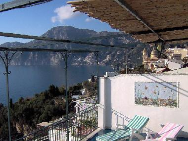 part of terrace with view to Positano