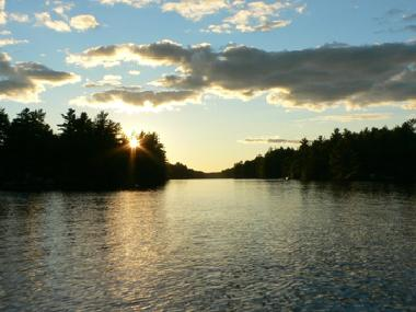 Sunset over Loon Lake