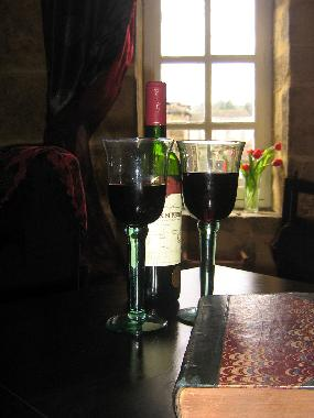 Relax with a glass of Red after a day of sightseeing...