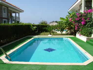 Private 40sm2 Swimming pool with safety matting surround