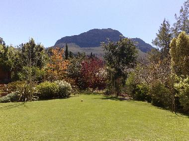 Mountain view from front garden