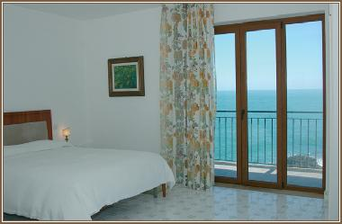 double bed room balcony sea view