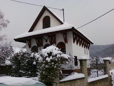 Sugarbox House in winter