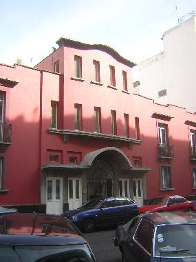 Front view of the builing known as