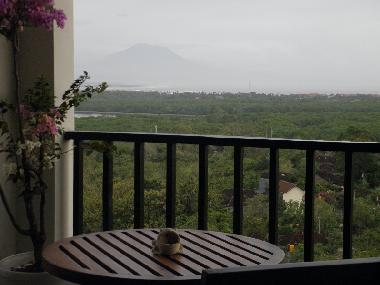 Living Room Balcony with Agung Volcano view