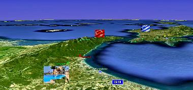 Opposite to the Greek island Samos. Tours to Samos available