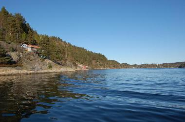 The fjord is great fishing and swimming. There is also a small beach near by.