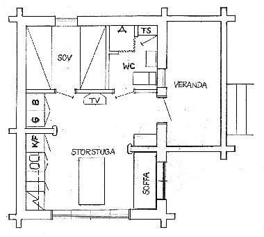 The floor plan ? every square meter is effectively utilized.