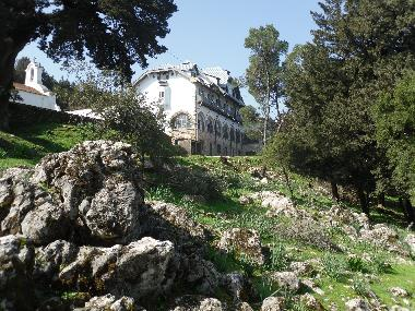 explore the mountain and soon you will come across Profiti Ilias , a beautiful old building where yo