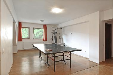 Sports room with table tennis