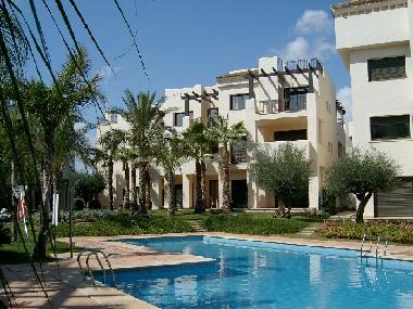 Fantastic 1st floor apartment overlooking pool & gardens