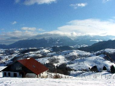 Winter view on Bucegi mountains