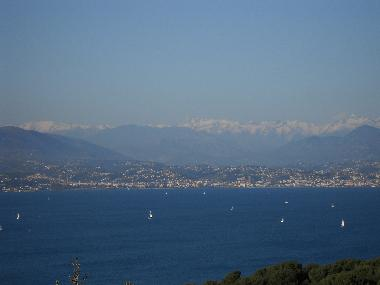 The Alps and the bay of Antibes