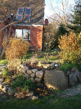 Herb spiral in rear garden