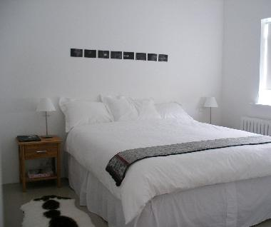 Bedroom with large queen size bed