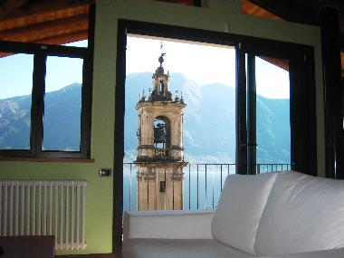 St Bartolomeo viewed from the sofa where the bells announce each half-hour between 0700 and 2200