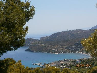 first glance at  the bay of Agia Marina