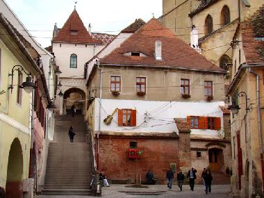 Sibiu, staircase to the upper town