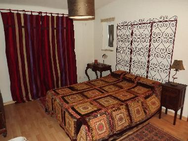 Double bed room with bathroom.