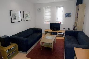 Living room - comes with HD Freeview TV, DVD and a stereo sound system and mobile internet connectio