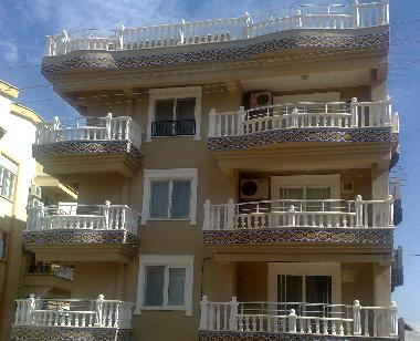 Roof terrace and two balconies below