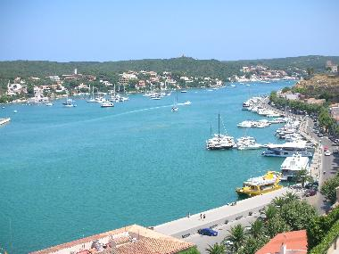 Mahon harbour (East) from the balcony