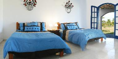 2 bedroom apartment sleeps 8. Bedroom 1 with 2 double beds and ensuite bathroom. Bedroom sleeps 4.