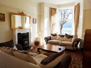 Drawing Room with Stunning Loch Views and Log Burner