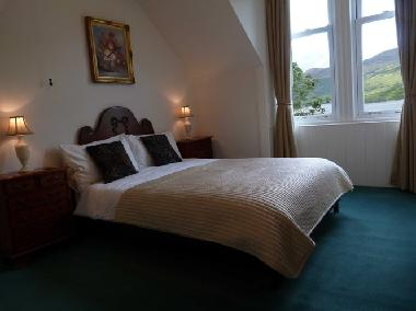 Loch Facing Bedroom with Double Bed (option for family room)