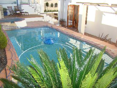 Pool and jacuzzi with safety netting