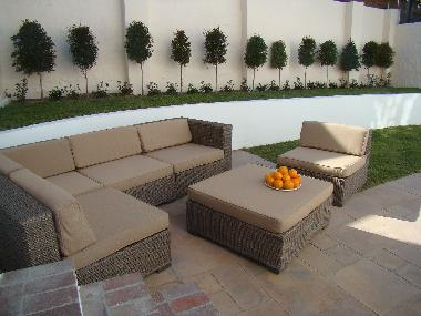 Lounge set with shady cover