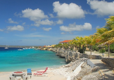 Sand Dollar Resort is the largest oceanfront community in Bonaire with long pathways along the water