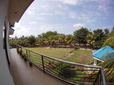 Balcony View towards Private Beach
