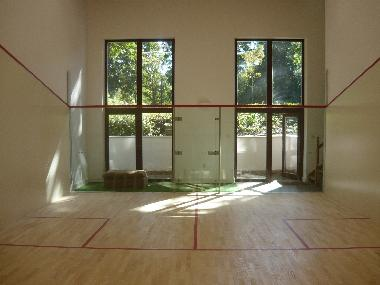 ASB Squash Court - inside the building
