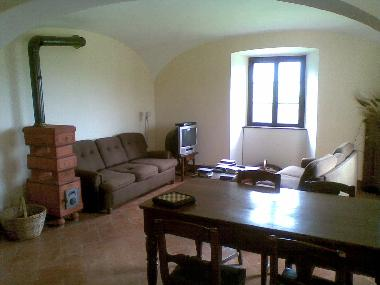 Living Room, Sofas, DVD Player and screen, noTV