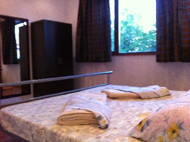 The larger double bedroom with a 2.00 x 1.80m bed
