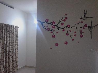 Bed room wall
