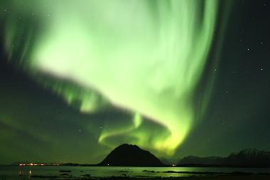 Perfect place to watch the northern lights from October to March (the picture is captured from the k