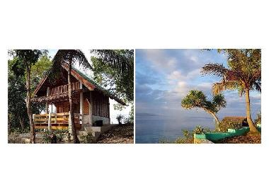 Native Bungalow and sea view