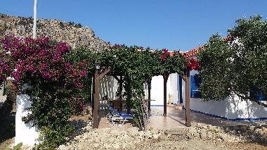 Just relax under the bougainvillea
