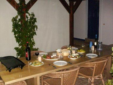 Enjoy your own cooking on the terrace